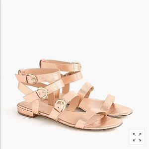Rose gold buckled gladiator sandal from J.Crew